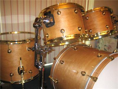 homemade drum set
